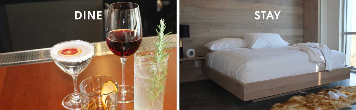 Drinks and Bedroom