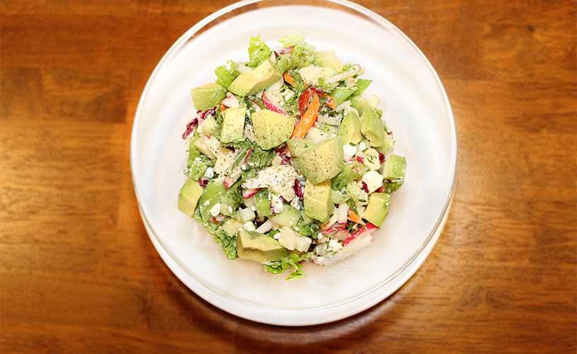 Salad with Feta and Avocado
