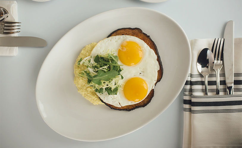 Egg with Garnish