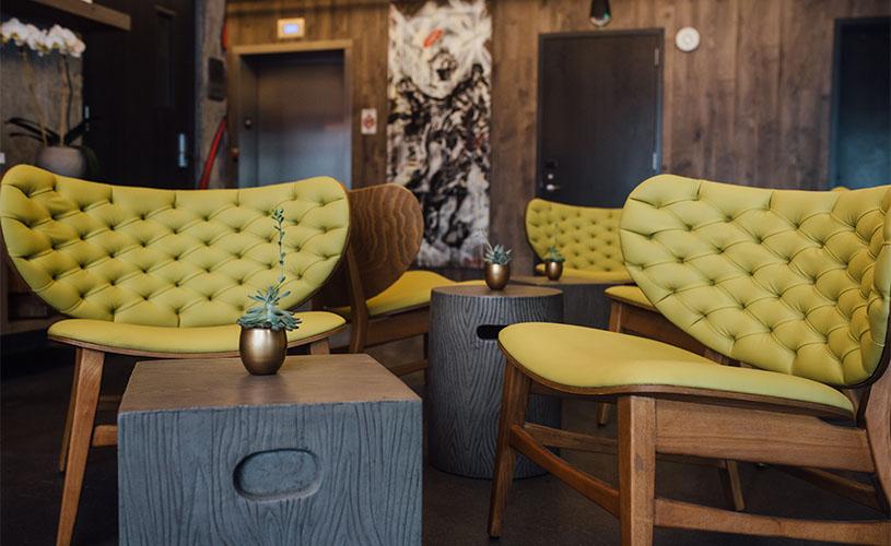 Tufted Chairs - Preston Hotel Lobby