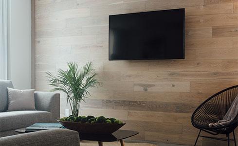 Flat Screen TV on Wall