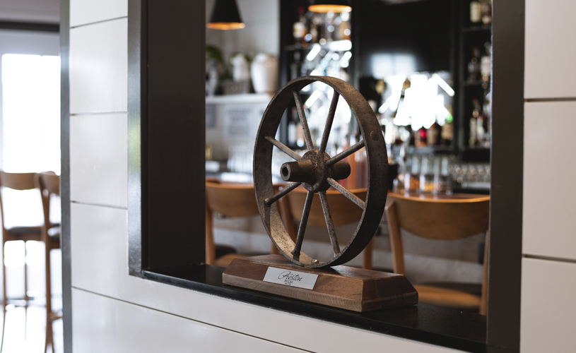 Wheel by the Bar Area in The Preston House & Hotel