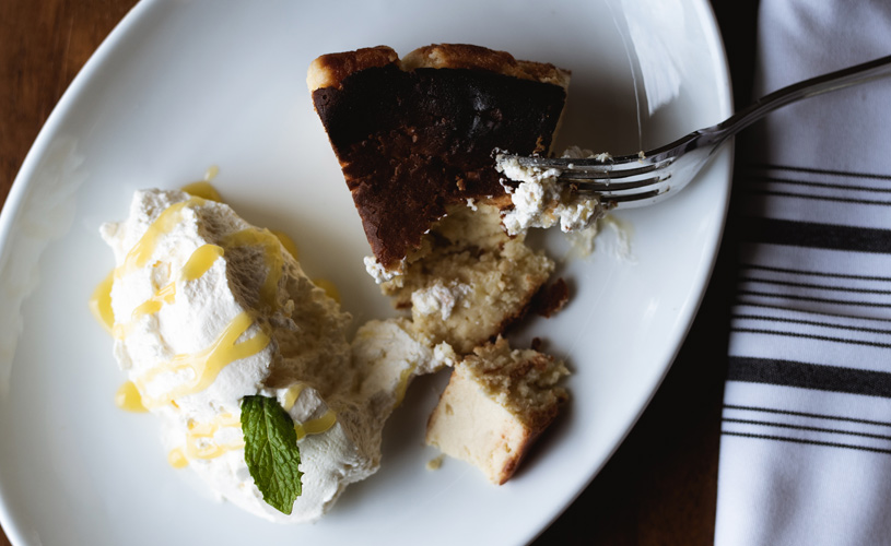 Cheesecake with Organic Meyer Lemon Curd at The Preston House & Hotel
