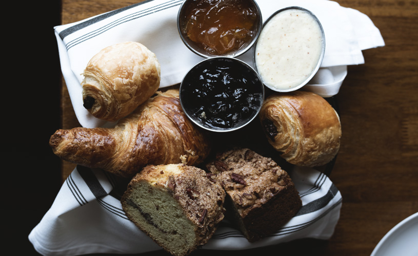 Assorted Bread Basket at The Preston House & Hotel