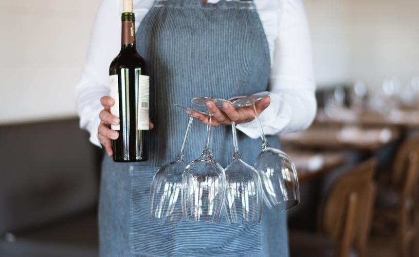 Wine Glasses at The Preston House & Hotel
