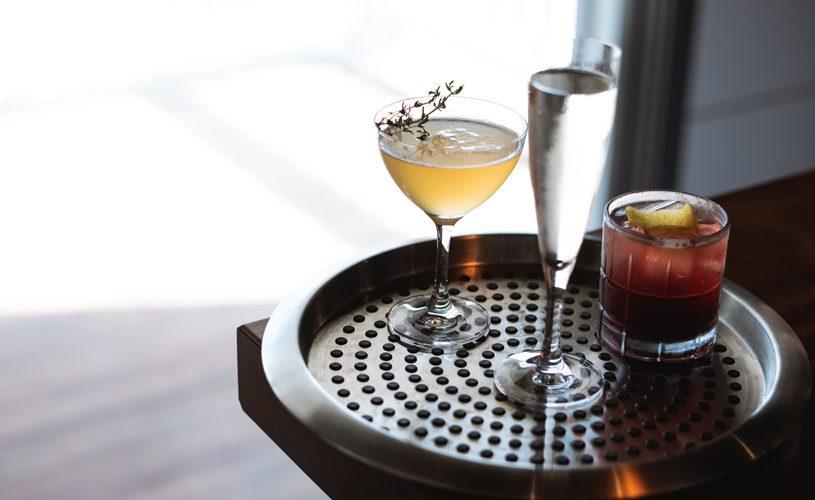 Cocktails on Serving Platter